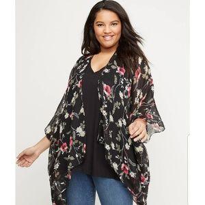 Floral gauze kimono lane Bryant one size